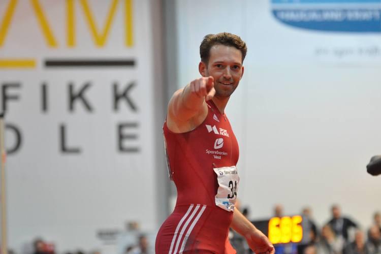 Christian Marthinussen under årets innendørs NM
