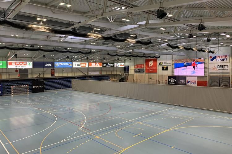 Du vil finne tomme haller på Fana Arena de neste to ukene.